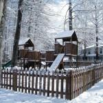 corner white playground