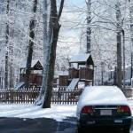 snowed car playground