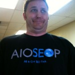 Cory Miller loves his All in One SEO Pack shirt!