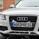 WordPress Audi in snow
