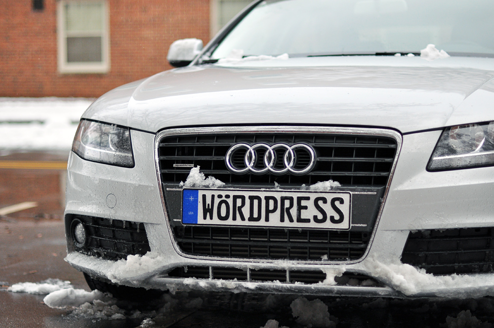 WordPress Audi in snow
